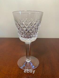 Set of 6 Vintage WATERFORD CRYSTAL Alana 5.75-inch Claret Wine Glasses IRELAND