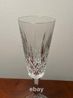 Set of 6 Vintage WATERFORD CRYSTAL Lismore Champagne Flutes Wine Glasses IRELAND