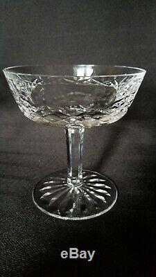 Set of 6 Vintage WATERFORD CRYSTAL Lismore Champagne Wine Sherbet Glasses