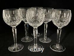 Set of 6 Waterford Lismore Balloon Wine Goblets 7 1/2 Vintage Gothic Mark