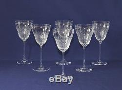 Set of 6 large vintage Rosenthal Romance II Crystal Red Wine Glasses 7 2/5