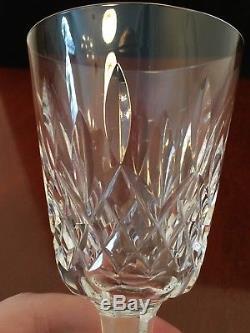 Set of 7 True Vintage WATERFORD CRYSTAL Lismore 4 oz. Claret Sherry Wine Glasses