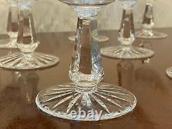 Set of 8 True Vintage WATERFORD CRYSTAL Kinsale Champagne Sherbet Wine Glasses