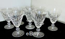 Set of 8 Waterford Tramore Claret Wine Glasses 5 1/4 Vintage Irish Cut Crystal