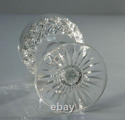 Six Vintage Thomas Webb Lead Crystal Wellington Pattern Wine Glasses c1960