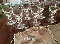 Steuben Crystal 7877 Teardrop Wine /Claret Glasses Vintage Set Of 6. 5 Inches