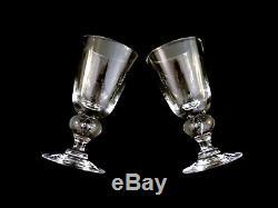 Steuben Crystal #7877 Teardrop Wine Glasses Vintage Set of 4