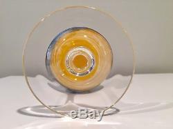 Steven Maslach 4 Vintage Art Glass Wine Stems Glasses 1978
