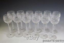Twelve Blown Cut Crystal Stemware Goblets Wine Glasses