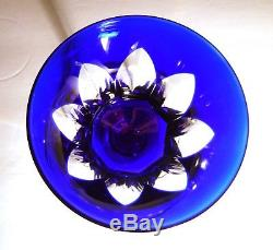 VINTAGE Baccarat BAC-76 Rhine Wine Cobalt Blue Cut to Clear 7 7/8 Made FRANCE