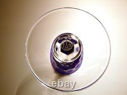 VINTAGE Baccarat Crystal BAC-76 Set of 6 Rhine Wines Cobalt Blue 7 7/8 FRANCE