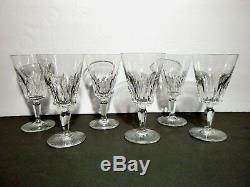 VINTAGE Baccarat Crystal CARCASSONNE (1959-1978) Set of 6 Claret Wines 5 5/8