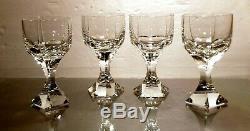 VINTAGE Baccarat Crystal MERCURE (1988-1993) Set of 4 Claret Wine Glass 5 1/2