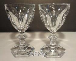 VINTAGE Baccarat HARCOURT (1841-) Set of 2 Claret Wines 5 1/4 5 oz