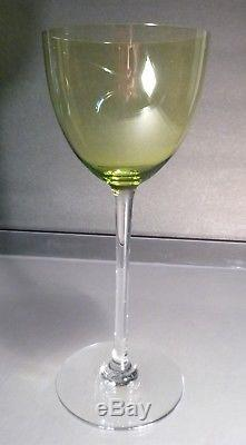 VINTAGE Baccarat PERFECTION (1933-) Set of 2 Chartreuse Rhine Wine 7 3/8