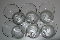 VINTAGE Baccarat PERFECTION (1933-) Set of 6 Wine Glasses 4 3/8 Made France