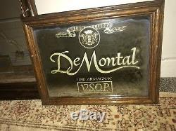 VINTAGE DE MONTAL fine Armangac VSOP Advertising Bar Mirror Sommelier CMS RARE