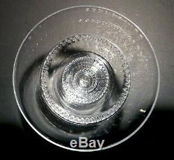 VINTAGE Lalique Crystal VOUVRAY (1951-) 6 Wine Glasses 2 3/4 Made in FRANCE