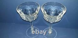 VINTAGE MOSER CRYSTAL LADY HAMILTON WINE GLASSES x2 EXC COND 125ml 15.5CM H