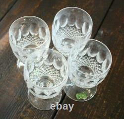 VINTAGE Waterford Crystal 7 COLLEEN GOBLETS SHORT STEM WINE GLASSES 5.25 Tall