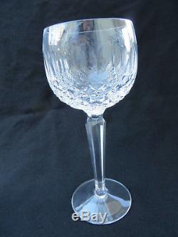 VINTAGE Waterford Crystal COLLEEN Pattern Set of 3 Wine Hock Glasses 7 3/8H
