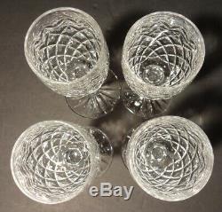 VINTAGE Waterford Crystal POWERSCOURT (1968-) Set 4 Claret Wine 7 1/8 Ireland