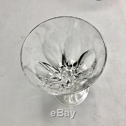 VIntage MCM Waterford Crystal SHEILA Pattern 6 1/4 White Wine Glass Set of 6