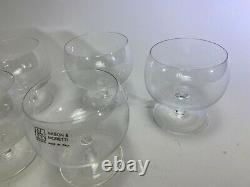 VTG Nason & Moretti Murano Wine Water Whiskey glasses Set X 6 Clear 4 DS56