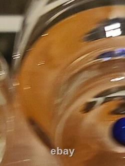 VTG Signed Orrefors Sweden Intermezzo Blue Wine Carafe / Creamer 6.5 Tall New