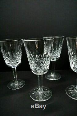 VintageOld Mark WATERFORD LISMORECrystal White Wine Glasses 5 1/2 Set of 5