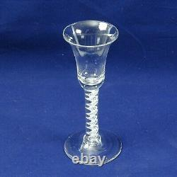 Vintage 18/19th Century Air Twist Inverted Bell Wine/Cordial Glass 17cm #1