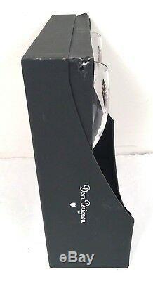 Vintage 2002 Set of 2 Dom Perignon Champagne Logo Flutes Glasses 9 1/8