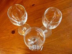 Vintage 3'baccarat' St. Remy French Crystal Claret Wine/water Pedestal Glasses