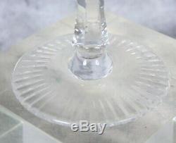 Vintage 6 Bohemian Ajka Marsala Czech Crystal Cut to Clear Wine Goblets Glass