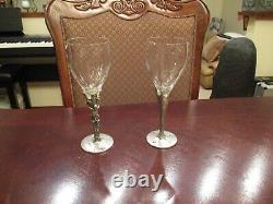 Vintage Alchemy Gothic 1998 Goblets, Wine Glasses (2) Skeleton & Spider Webs