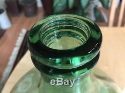 Vintage Antique Green Demijohn 5 gallon Handblown Glass 18x12 Large Rare Wine