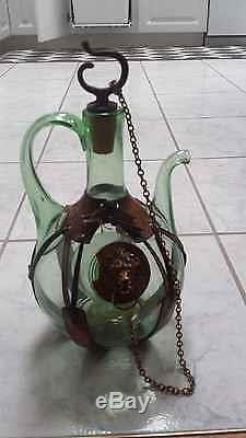 Vintage Antique Wine Bottle bottle with Handle from italy