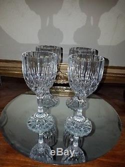 Vintage Baccarat 6 1/2 Wine Glasses (Set of 4) Pristine Condition no Chips
