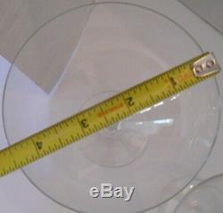 Vintage Baccarat Crystal Balloon Wine Glasses (4)