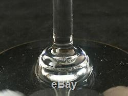Vintage Baccarat Crystal-Jasmina Wine Glass Goblets-Etched withGold Trim-Set Of 4
