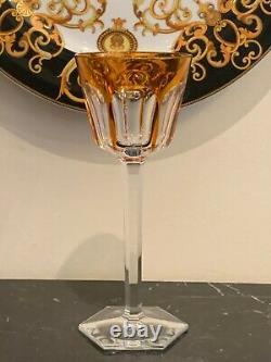 Vintage Baccarat Harcourt Orange Crystal Rhine Wine Glass