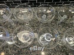 Vintage Bayel Bachus France Frosted Male Nudes Figural Stems Wine Glasses 10