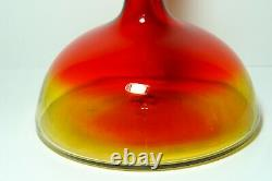 Vintage Blenko Amberina Glass Decanter with Stopper