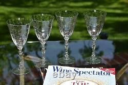 Vintage CRYSTAL Wine glasses, Set of 6, Fostoria Mulberry circa 1940's