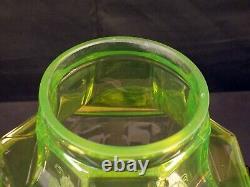 Vintage Cambridge Vaseline Glass Beverage Wine Liquor Drink Dispenser Decanter