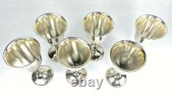 Vintage Camusso Peruvian 925 Sterling Silver Wine Goblets Cups Glasses