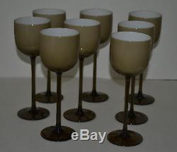 Vintage Carlo Moretti Murano Cased Glass Wine Goblets -8