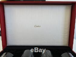 Vintage Cartier La Maison Art Deco Crystal Boxed Set 4 Champagne / Wine Stems