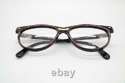 Vintage Cazal 331 Wine Red Black Gold Oval Glasses Frames Eyeglasses NOS
