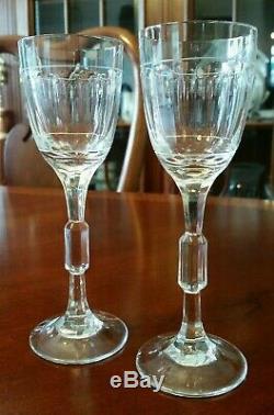 Vintage Claus Josef Riedel Dessert Wine Cordial Glasses Crystal PAIR Rare